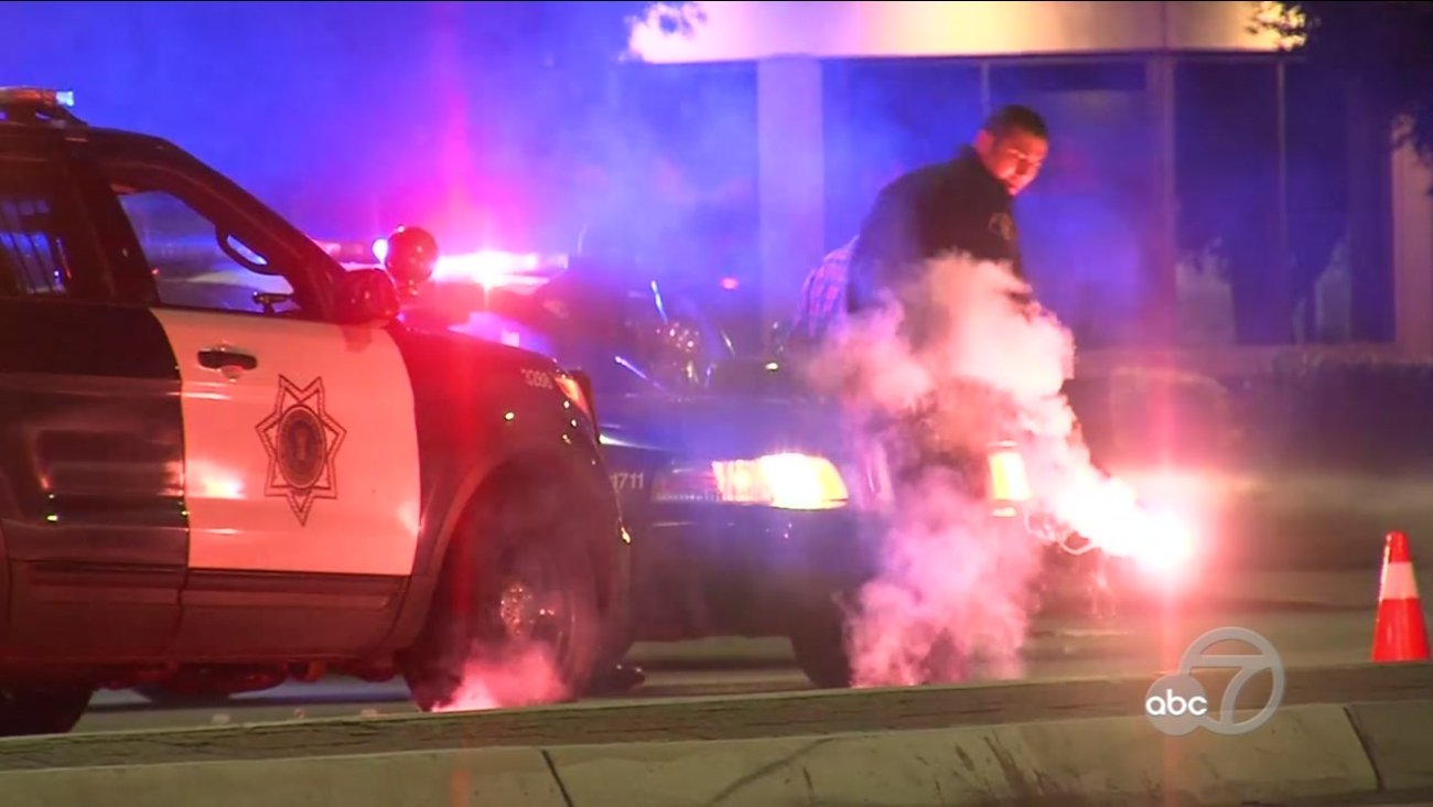 One man is dead following an overnight shooting at a gas station in San Jose, Calif. on Sunday, Dec. 18, 2016.