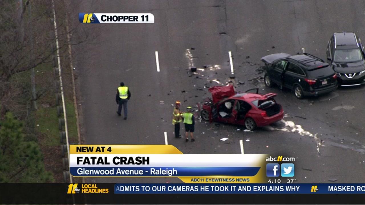 Man killed in multi-vehicle crash on Glenwood Avenue