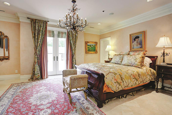"<div class=""meta image-caption""><div class=""origin-logo origin-image none""><span>none</span></div><span class=""caption-text"">Another secondary bedroom. Each with different theme and style, yet all have the high end finishes of marble floors, custom drapery, recessed lighting, speakers. (Courtesy Houston Association of Realtors)</span></div>"