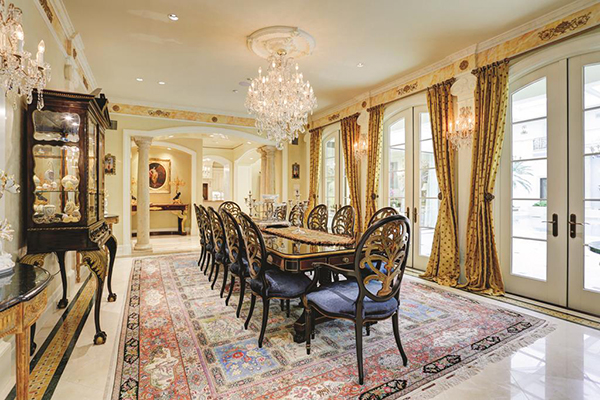 "<div class=""meta image-caption""><div class=""origin-logo origin-image none""><span>none</span></div><span class=""caption-text"">Elegant formal dining room which can accommodate large group of seated dinner. Venetian plaster walls. Decorative crown molding. Antique crystal chandeliers. (Courtesy Houston Association of Realtors)</span></div>"