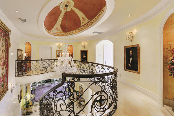 "<div class=""meta image-caption""><div class=""origin-logo origin-image none""><span>none</span></div><span class=""caption-text"">Second floor landing leading to the master suite. Notice the gorgeous art work details in the ceiling. (Courtesy Houston Association of Realtors)</span></div>"