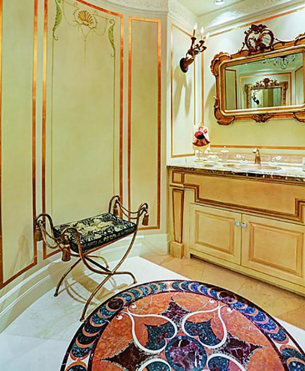 "<div class=""meta image-caption""><div class=""origin-logo origin-image none""><span>none</span></div><span class=""caption-text"">Beautifully designed and decorated guest half bath on first floor. (Courtesy Houston Association of Realtors)</span></div>"