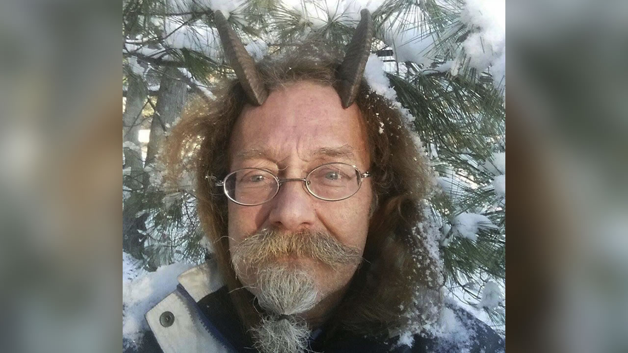 This Dec. 7, 2016, photo provided by Phelan Moonsong shows a portrait of himself in Portland, Maine (Phelan Moonsong via AP)