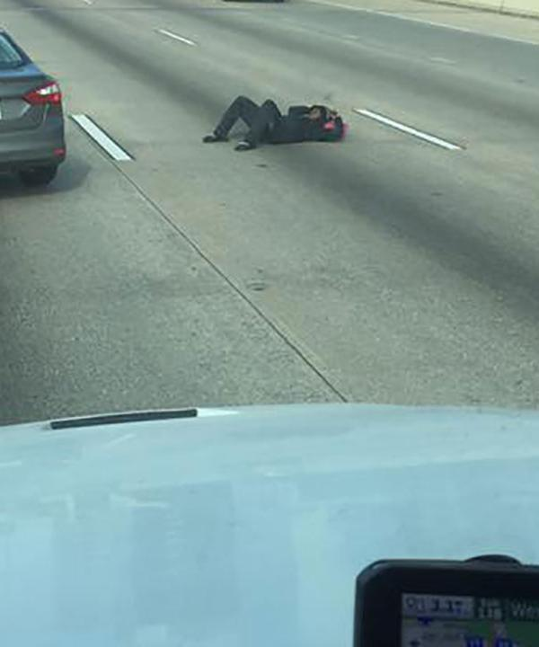 <div class='meta'><div class='origin-logo' data-origin='KTRK'></div><span class='caption-text' data-credit='Eyewitness News Viewers'>Man found laying in the middle of highway</span></div>