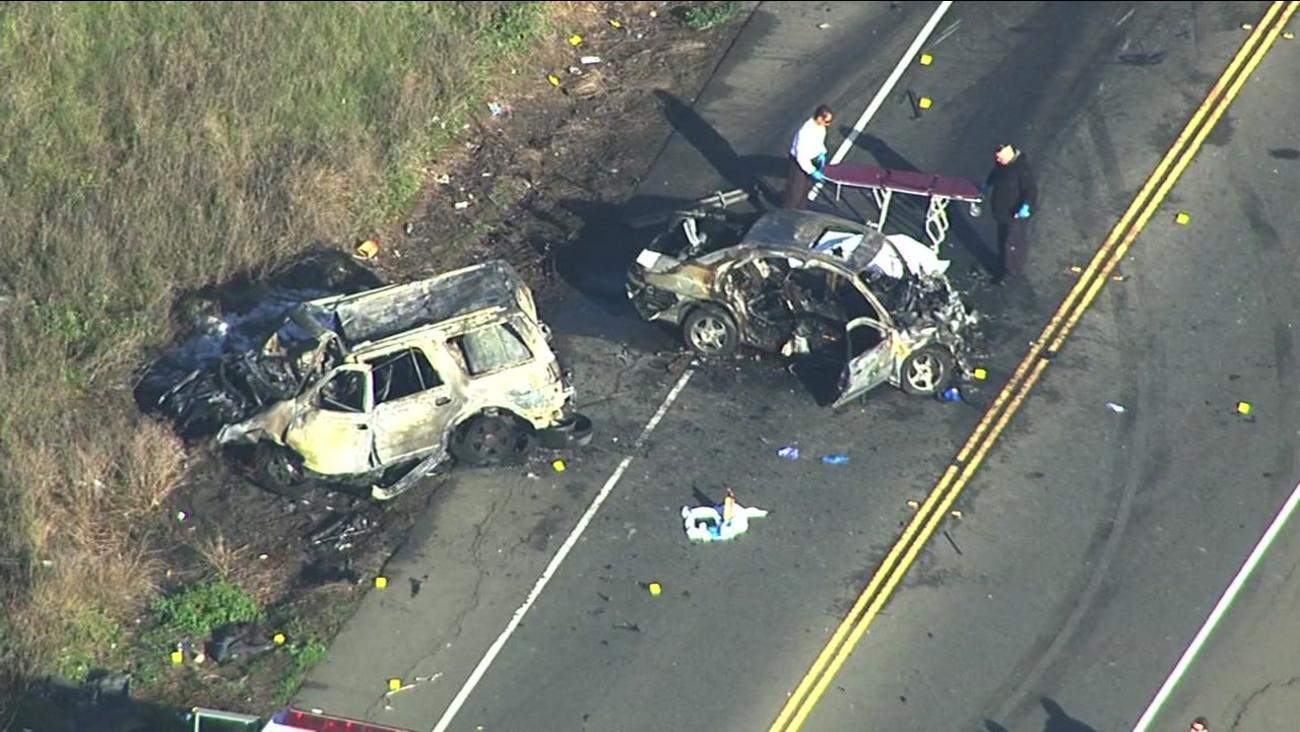 Fatal accident scene in Fairfield, California, Wednesday, December 21, 2016.