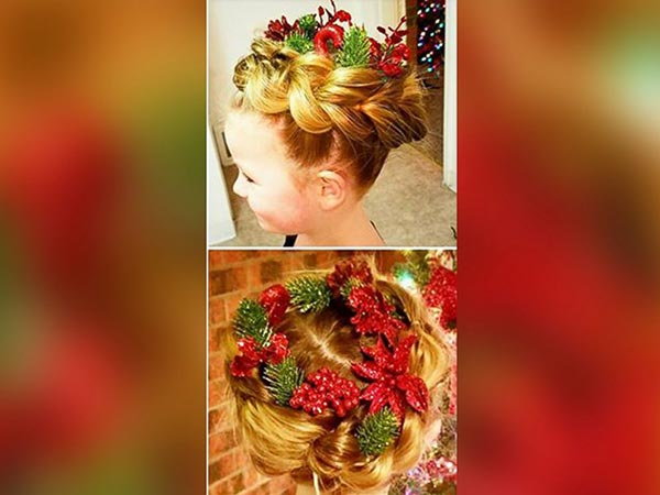 "<div class=""meta image-caption""><div class=""origin-logo origin-image none""><span>none</span></div><span class=""caption-text"">Greg Wickherst styles his daughter Izzy's hair for Christmas. This is the Wreath design. (Greg Wickherst)</span></div>"