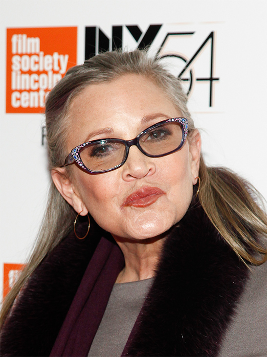 <div class='meta'><div class='origin-logo' data-origin='none'></div><span class='caption-text' data-credit='Andy Kropa/Invision/AP'>Carrie Fisher attends a special screening of, &#34;Bright Lights: Starring Carrie Fisher and Debbie Reynolds&#34;, at Alice Tully Hall on Monday, Oct. 10, 2016, in New York.</span></div>