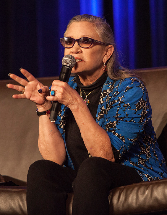 <div class='meta'><div class='origin-logo' data-origin='none'></div><span class='caption-text' data-credit='Barry Brecheisen/Invision/AP'>Carrie Fisher during Wizard World Chicago Comic-Con at the Donald E. Stephens Convention Center on Sunday, Aug. 21, 2016, in Chicago.</span></div>