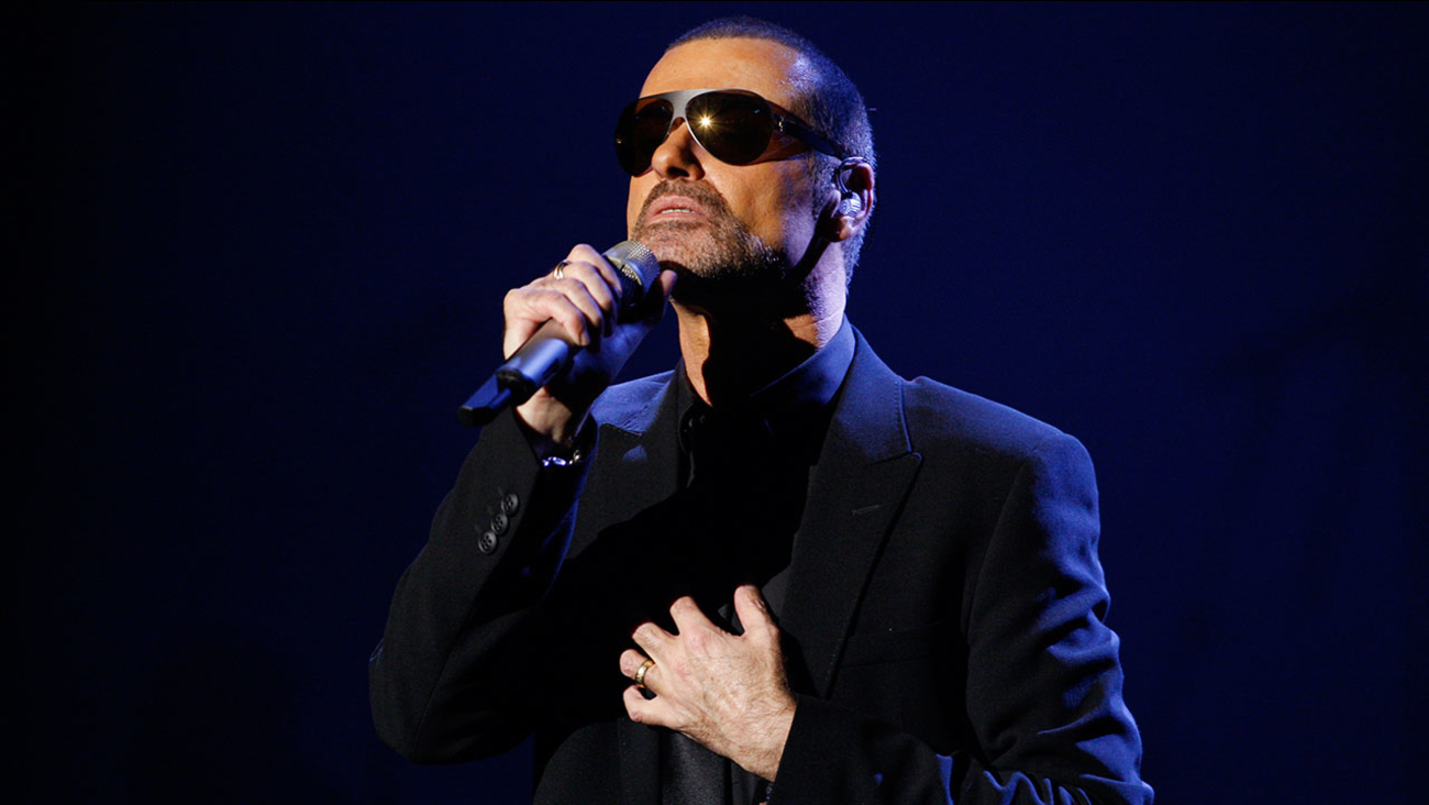 Singer George Michael performs in Prague, Czech Republic, on Monday, Aug. 22, 2011.