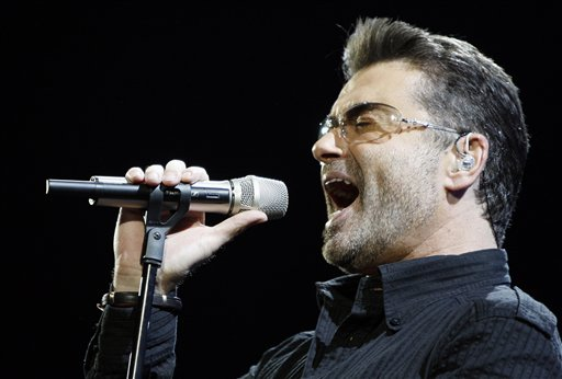 <div class='meta'><div class='origin-logo' data-origin='AP'></div><span class='caption-text' data-credit='AP Photo/Matt Sayles'>Singer George Michael performs during his &#34;Live Global Tour&#34; concert in Inglewood, Calif. on Wednesday, June 25, 2008.</span></div>