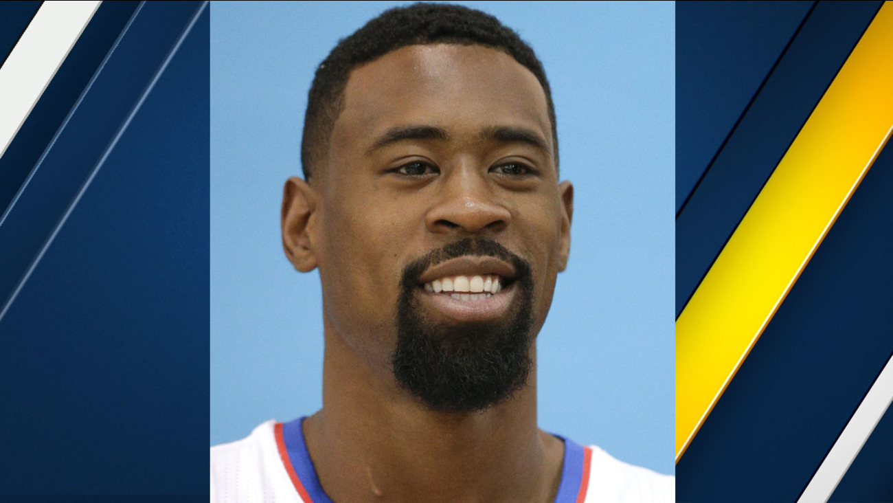 This a headshot of basketball player DeAndre Jordan. Jordan is an active basketball player for the Los Angeles Clippers as of Oct. 25, 2016 in the NBA.