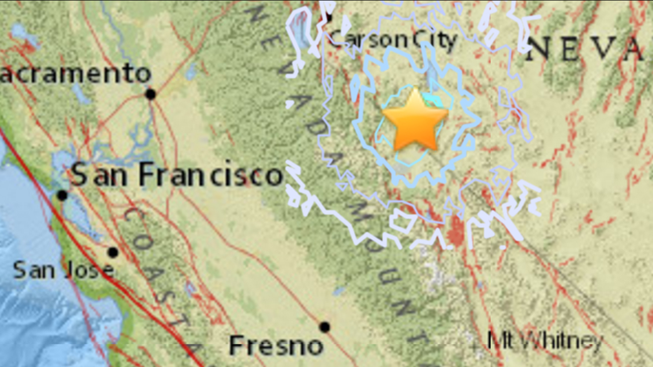 A 5.5 magnitude earthquake struck 17 miles SW of Hawthorne, Nevada on Wednesday, December 28, 2016.