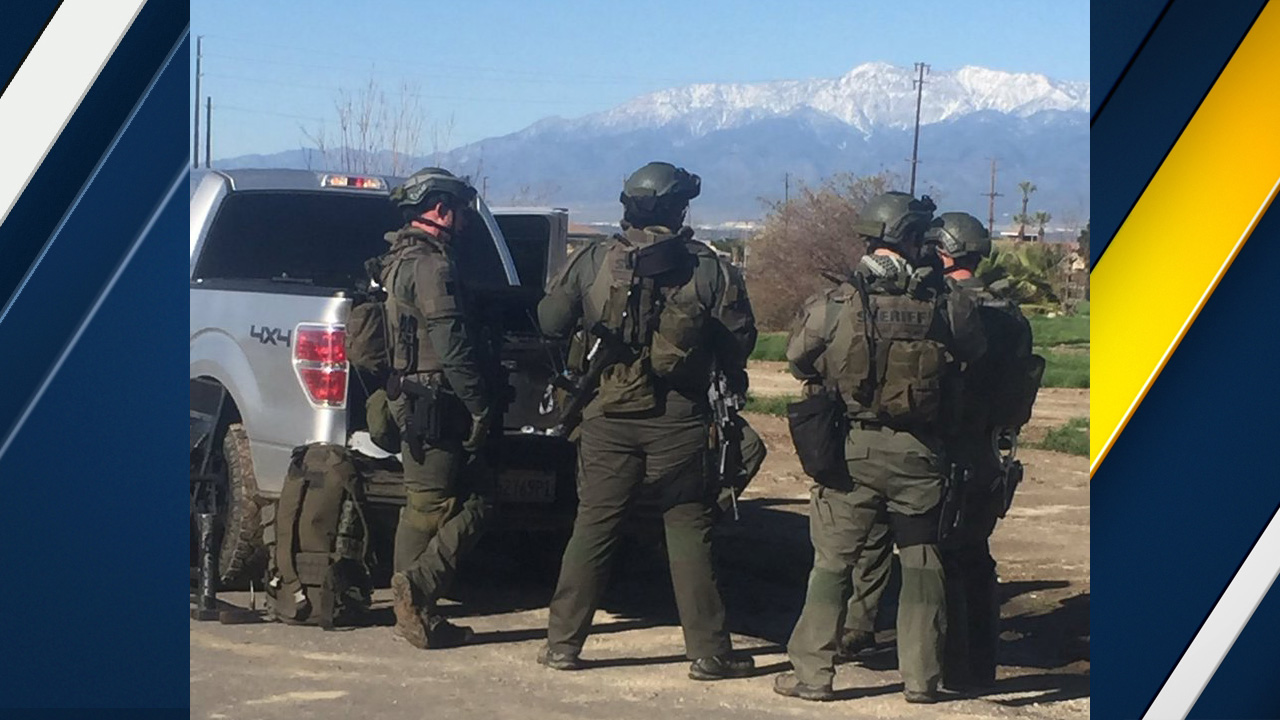 San Bernardino County sheriff's deputies responded to a barricade situation at a home in Loma Linda on Wednesday, De.c 28, 2016.