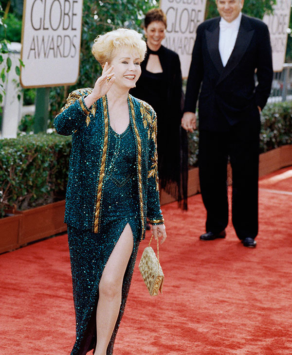 <div class='meta'><div class='origin-logo' data-origin='AP'></div><span class='caption-text' data-credit='AP Photo/Chris Pizzello'>Actress Debbie Reynolds arrives at the 54th annual Golden Globes on Sunday, Jan. 19, 1997 in Beverly Hills, California.</span></div>