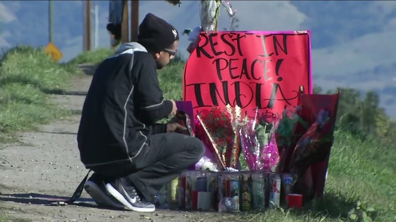 A roadside memorial is seen in this undated photo after a suspected drunk driving crash in San Jose.