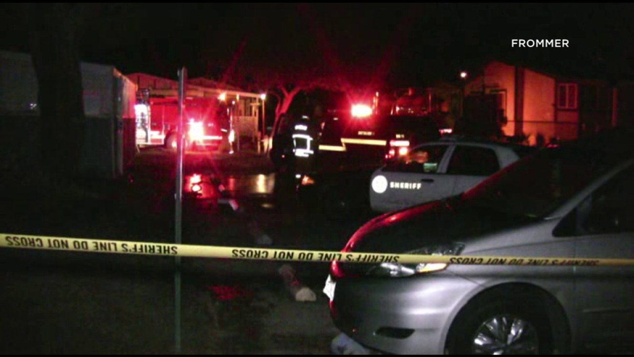 Firefighters and sheriff's deputies responded to a fatal fire at a mobile home in Lancaster on Friday, Dec. 30, 2016.