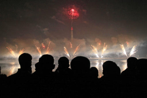 <div class='meta'><div class='origin-logo' data-origin='AP'></div><span class='caption-text' data-credit='AP Photo/Kim Kwang Hyon)'>North Koreans gather to watch a New Year's fireworks display at the Kim Il Sung Square in Pyongyang, North Korea, on Sunday, Jan. 1, 2017.</span></div>