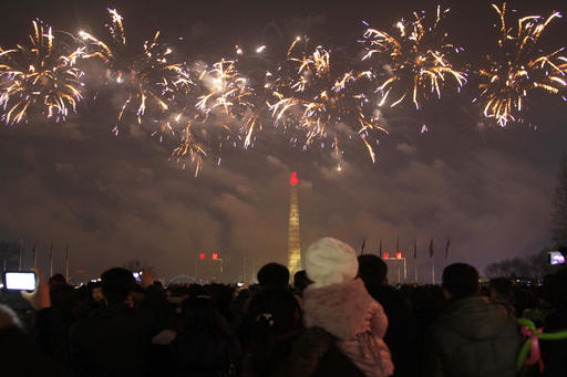 <div class='meta'><div class='origin-logo' data-origin='AP'></div><span class='caption-text' data-credit='AP Photo/Kim Kwang Hyon'>North Koreans gather to watch a New Year's fireworks display at the Kim Il Sung Square in Pyongyang, North Korea, on Sunday, Jan. 1, 2017.</span></div>