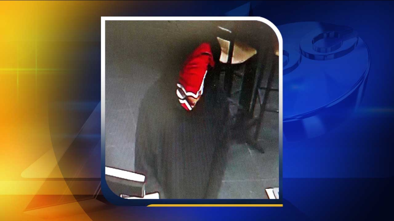 Surveillance image of the robbery in Raleigh