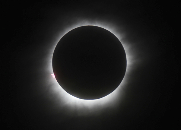 <div class='meta'><div class='origin-logo' data-origin='AP'></div><span class='caption-text' data-credit='AP Photo, File'>This March 9, 2016 file photo shows a total solar eclipse in Belitung, Indonesia.</span></div>