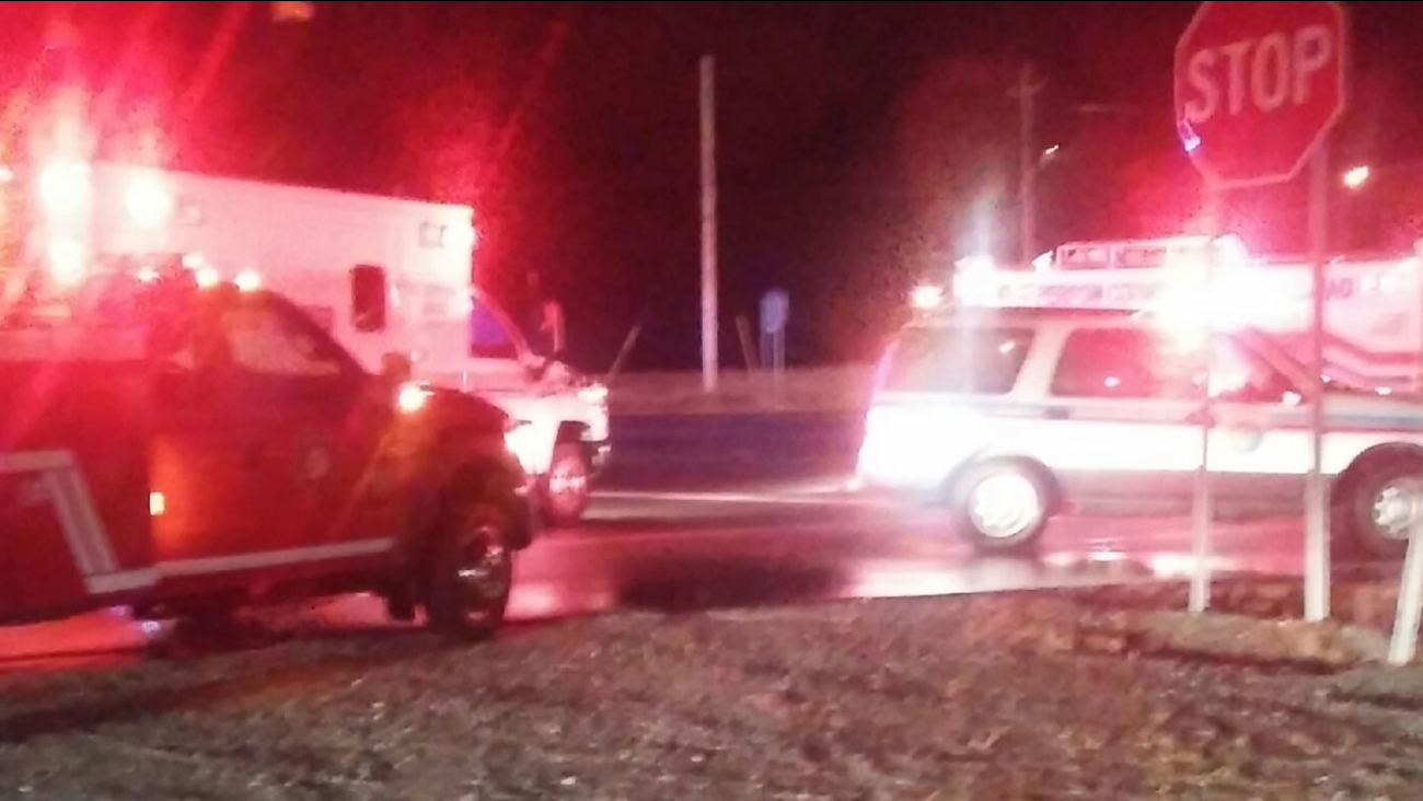 Emergency vehicles on the scene of a fatal crash in Person County (ABC11 Eyewitness photo)