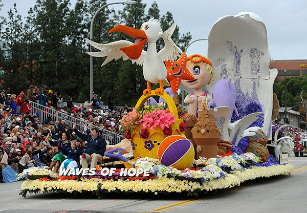 <div class='meta'><div class='origin-logo' data-origin='AP'></div><span class='caption-text' data-credit='AP Photo/Michael Owen Baker'>The Northwestern Mutual &#34;Waves of Hope&#34; float, winner of the Animation Trophy rolls along the 128th Rose Parade in Pasadena, Calif., Monday, Jan. 2, 2017.</span></div>