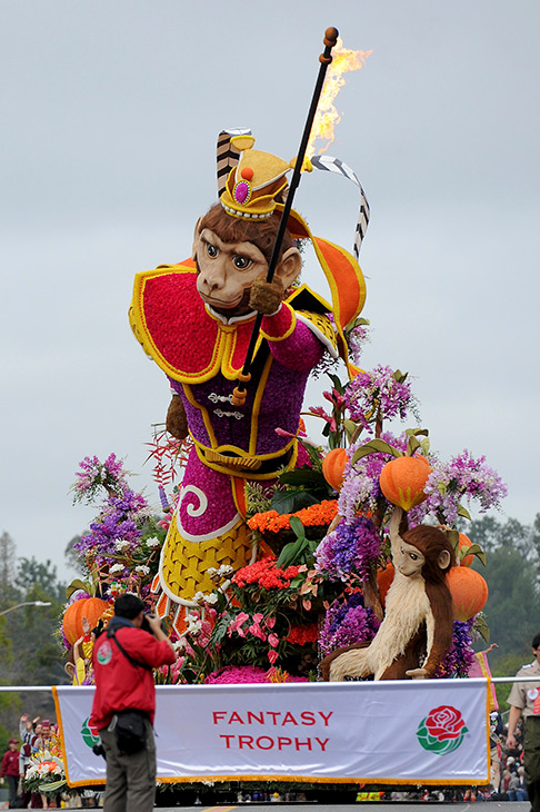 <div class='meta'><div class='origin-logo' data-origin='AP'></div><span class='caption-text' data-credit='AP Photo/Michael Owen Baker'>The BDK, A Singpoli Affiliate, &#34;The Monkey King: Journey to Success,'' float, winner of the Fantasy Trophy for most outstanding display of fantasy and imagination.</span></div>