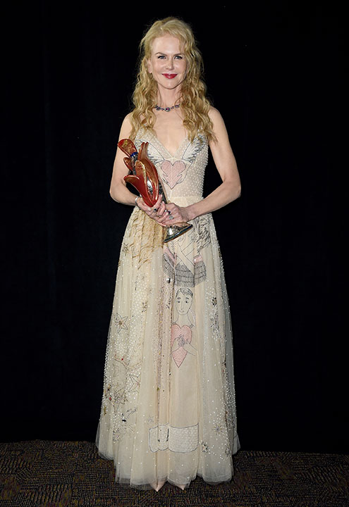 "<div class=""meta image-caption""><div class=""origin-logo origin-image none""><span>none</span></div><span class=""caption-text"">Nicole Kidman poses backstage with the international star award for ''Lion'' at the 28th annual Palm Springs International Film Festival Awards Gala. (Jordan Strauss/Invision/AP)</span></div>"