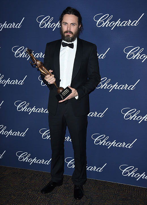 "<div class=""meta image-caption""><div class=""origin-logo origin-image none""><span>none</span></div><span class=""caption-text"">Casey Affleck poses backstage with the Desert Palm Achievement actor award for ''Manchester by the Sea'' at the 28th annual Palm Springs International Film Festival Awards Gala. (Jordan Strauss/Invision/AP)</span></div>"