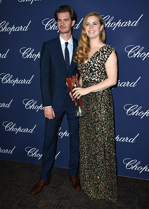 "<div class=""meta image-caption""><div class=""origin-logo origin-image none""><span>none</span></div><span class=""caption-text"">Amy Adams, winner of the Chairman's award for ''Arrival,'' poses backstage with presenter Andrew Garfield at the 28th annual Palm Springs International Film Festival Awards Gala. (Jordan Strauss/Invision/AP)</span></div>"