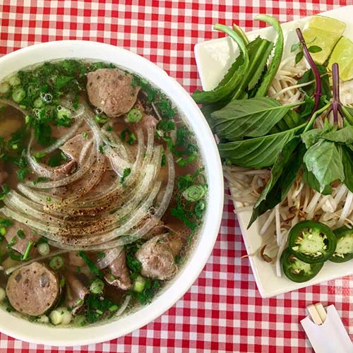 "<div class=""meta image-caption""><div class=""origin-logo origin-image none""><span>none</span></div><span class=""caption-text"">The namesake at Pho #1 on the NW Side. (Steve Dolinsky)</span></div>"