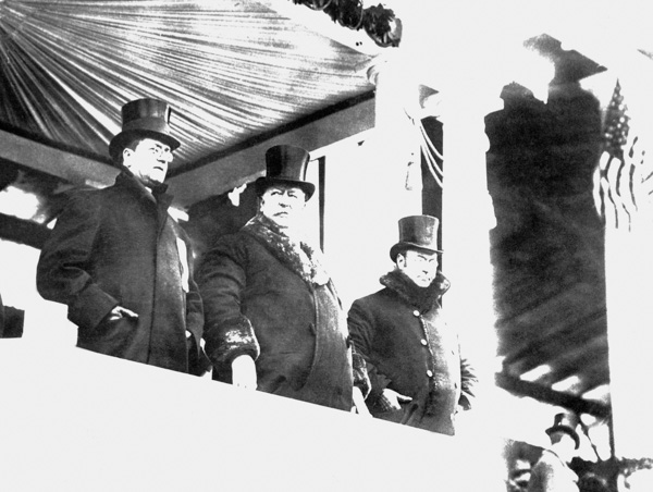 <div class='meta'><div class='origin-logo' data-origin='AP'></div><span class='caption-text' data-credit='AP Photo'>William Howard Taft, center, at his inauguration on March 4, 1909 in Washington.</span></div>