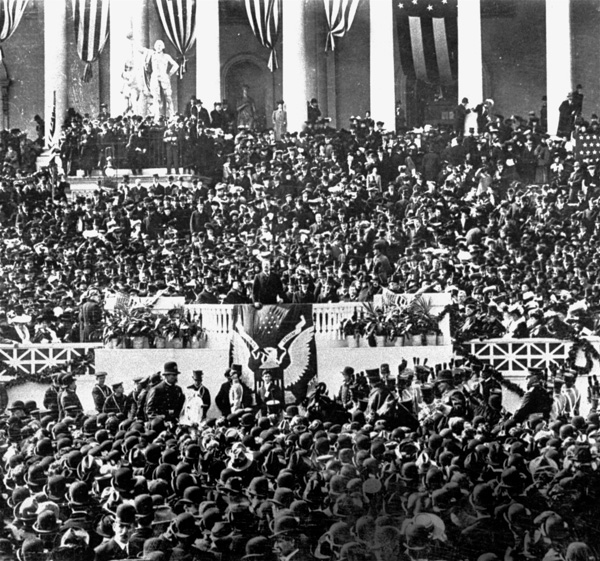 <div class='meta'><div class='origin-logo' data-origin='AP'></div><span class='caption-text' data-credit='AP Photo'>The inauguration of President Theodore Roosevelt, 1905.</span></div>