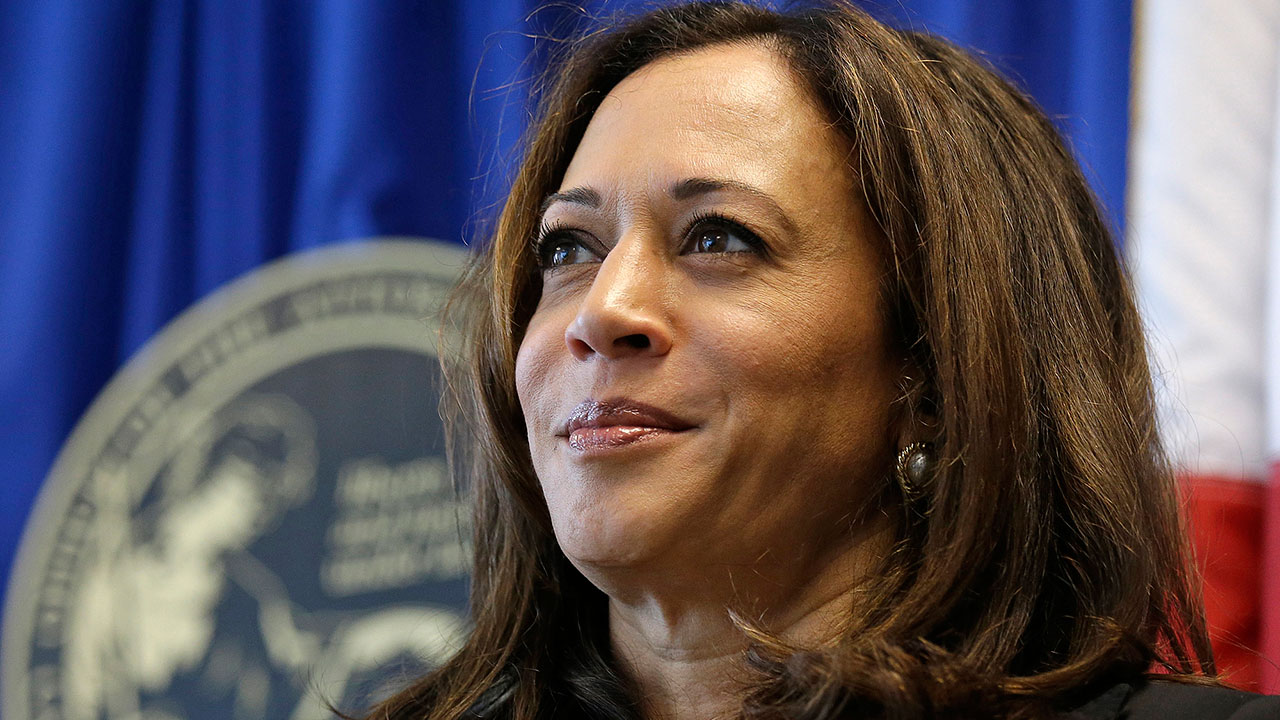 FILE - In this June 28, 2016 file photo California Attorney General Kamala Harris appears at a news conference in San Francisco.