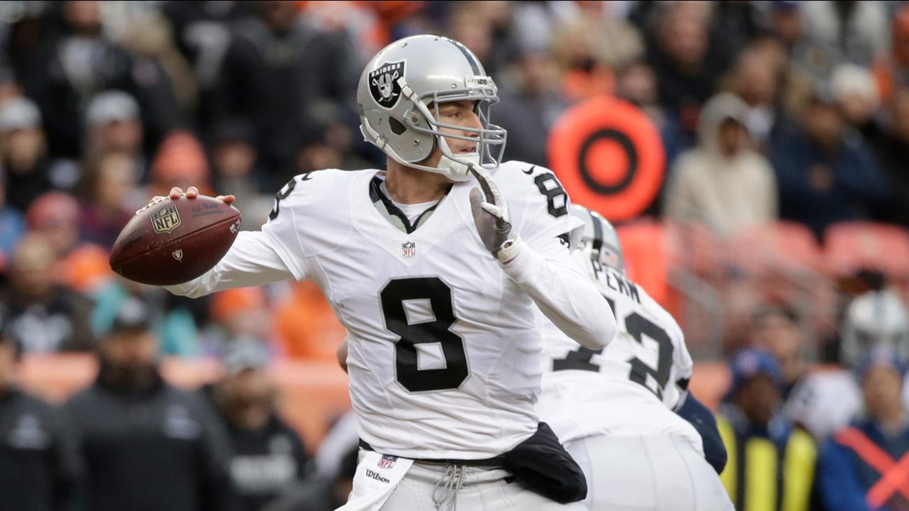 Oakland Raiders quarterback Connor Cook