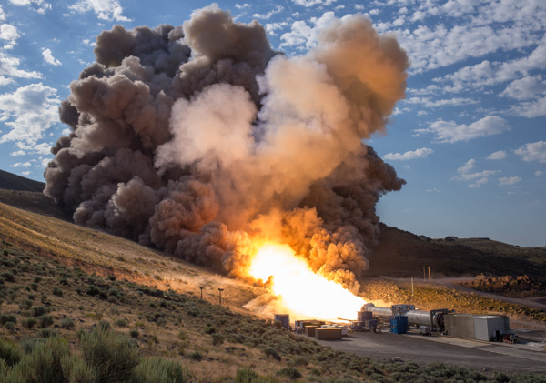 "<div class=""meta image-caption""><div class=""origin-logo origin-image none""><span>none</span></div><span class=""caption-text"">The final qualification motor (QM-2) test for the Space Launch System's booster, Tuesday, June 28, 2016, at Orbital ATK Propulsion Systems test facilities in Promontory, Utah. (NASA/Bill Ingalls)</span></div>"
