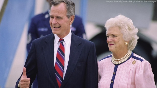 Cartoon Depicts Barbara Bush Reuniting With Daughter She Lost To