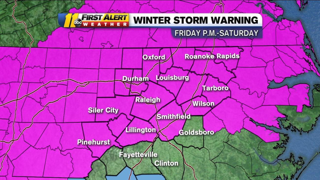 Hourly winter weather forecast for central North Carolina | abc11 com