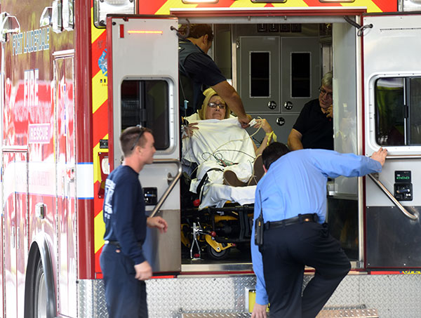 <div class='meta'><div class='origin-logo' data-origin='none'></div><span class='caption-text' data-credit='Taimy Alvarez/South Florida Sun-Sentinel/TNS via Getty Images'>A shooting victim is unloaded from an emergency vehicle and taken into Broward Health Trauma Center Friday, Jan. 6, 2017 in Fort Lauderdale, Fla.</span></div>