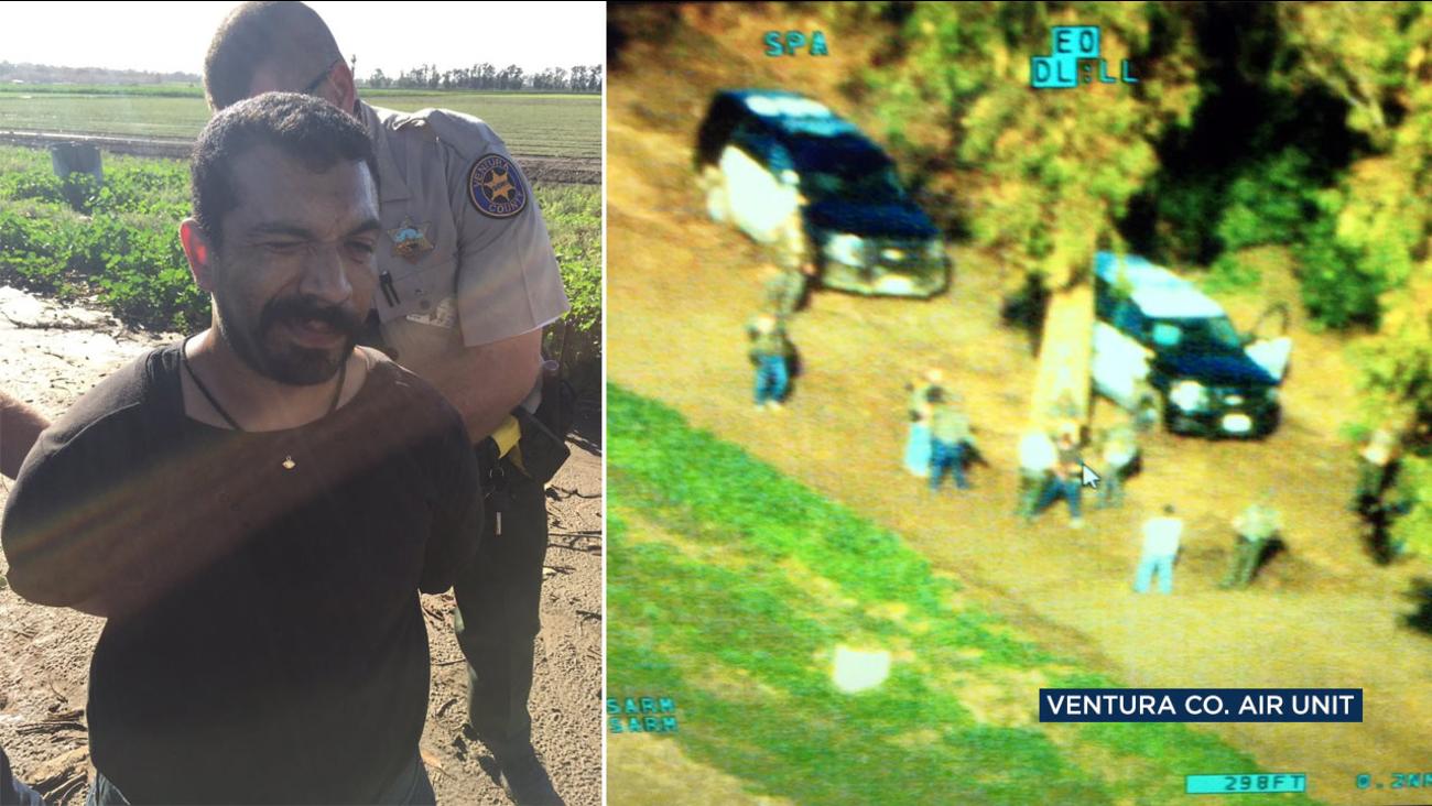 Alfredo Ortiz, 33, is taken into custody by the Ventura County Sheriff's Department on Friday, Jan. 6, 2017.