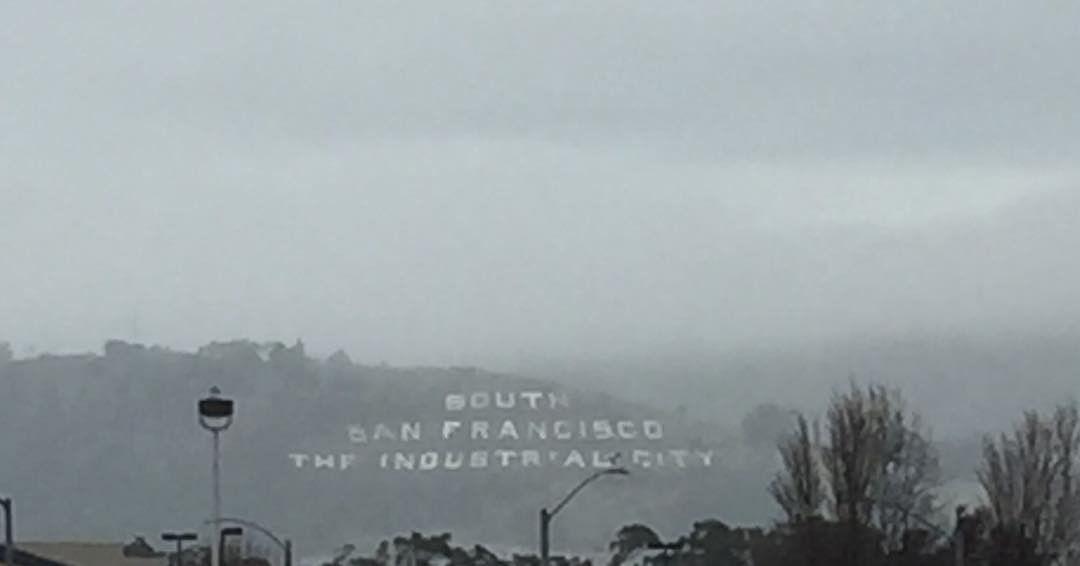 <div class='meta'><div class='origin-logo' data-origin='none'></div><span class='caption-text' data-credit='beachgal415/Instagram'>Fog appears in South San Francisco, Calif. on Jan. 7, 2017.</span></div>