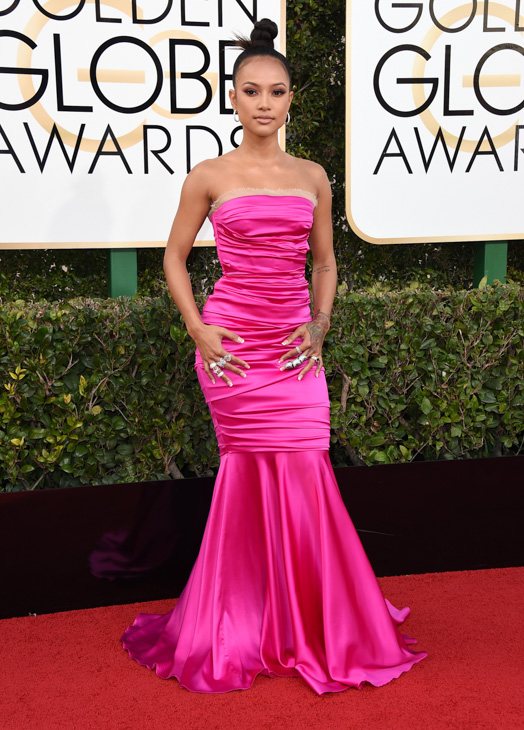 <div class='meta'><div class='origin-logo' data-origin='none'></div><span class='caption-text' data-credit='Jordan Strauss/Invision/AP'>Karrueche Tran arrives at the 74th annual Golden Globe Awards at the Beverly Hilton Hotel on Sunday, Jan. 8, 2017, in Beverly Hills, Calif.</span></div>