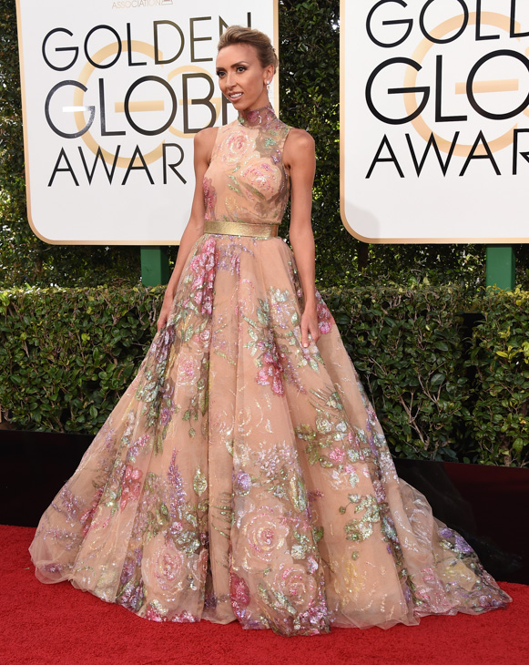<div class='meta'><div class='origin-logo' data-origin='none'></div><span class='caption-text' data-credit='Jordan Strauss/Invision/AP'>Giuliana Rancic arrives at the 74th annual Golden Globe Awards at the Beverly Hilton Hotel on Sunday, Jan. 8, 2017, in Beverly Hills, Calif.</span></div>