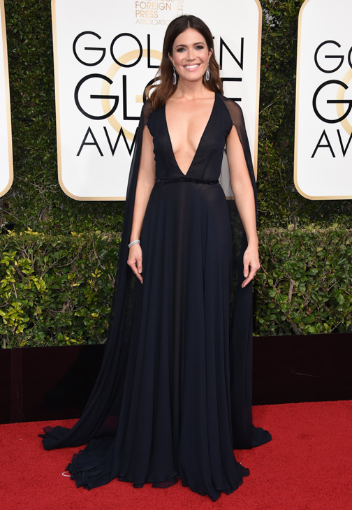 <div class='meta'><div class='origin-logo' data-origin='none'></div><span class='caption-text' data-credit='Jordan Strauss/Invision/AP'>Mandy Moore arrives at the 74th annual Golden Globe Awards at the Beverly Hilton Hotel on Sunday, Jan. 8, 2017, in Beverly Hills, Calif.</span></div>