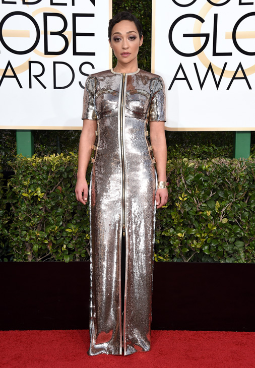 <div class='meta'><div class='origin-logo' data-origin='none'></div><span class='caption-text' data-credit='Jordan Strauss/Invision/AP'>Ruth Negga arrives at the 74th annual Golden Globe Awards at the Beverly Hilton Hotel on Sunday, Jan. 8, 2017, in Beverly Hills, Calif.</span></div>