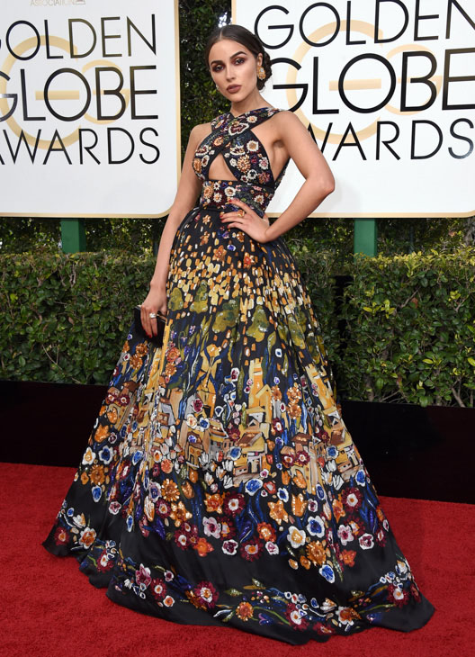 <div class='meta'><div class='origin-logo' data-origin='none'></div><span class='caption-text' data-credit='Jordan Strauss/Invision/AP'>Olivia Culpo arrives at the 74th annual Golden Globe Awards at the Beverly Hilton Hotel on Sunday, Jan. 8, 2017, in Beverly Hills, Calif.</span></div>