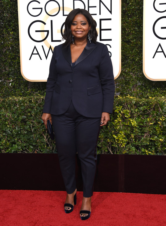 <div class='meta'><div class='origin-logo' data-origin='none'></div><span class='caption-text' data-credit='Jordan Strauss/Invision/AP'>Octavia Spencer arrives at the 74th annual Golden Globe Awards at the Beverly Hilton Hotel on Sunday, Jan. 8, 2017, in Beverly Hills, Calif.</span></div>