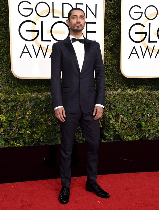 <div class='meta'><div class='origin-logo' data-origin='none'></div><span class='caption-text' data-credit='Jordan Strauss/Invision/AP'>Riz Ahmed arrives at the 74th annual Golden Globe Awards at the Beverly Hilton Hotel on Sunday, Jan. 8, 2017, in Beverly Hills, Calif.</span></div>
