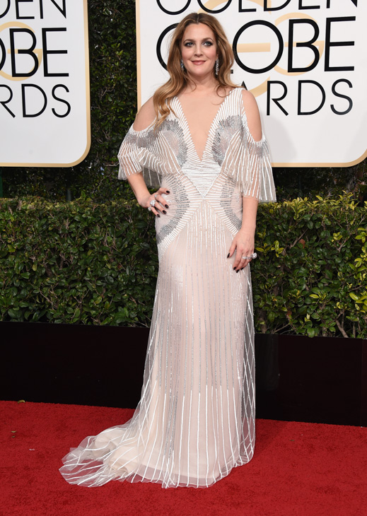 <div class='meta'><div class='origin-logo' data-origin='none'></div><span class='caption-text' data-credit='Jordan Strauss/Invision/AP'>Drew Barrymore arrives at the 74th annual Golden Globe Awards at the Beverly Hilton Hotel on Sunday, Jan. 8, 2017, in Beverly Hills, Calif.</span></div>