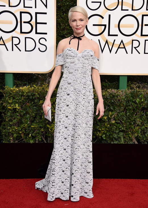 <div class='meta'><div class='origin-logo' data-origin='none'></div><span class='caption-text' data-credit='Jordan Strauss/Invision/AP'>Michelle Williams arrives at the 74th annual Golden Globe Awards at the Beverly Hilton Hotel on Sunday, Jan. 8, 2017, in Beverly Hills, Calif.</span></div>